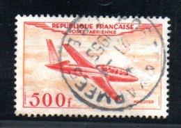 France / Poste Aérienne / N 32 / 500 Francs Jaune / Oblitéré / Côte16 € - Aéreo
