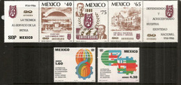 La Technique Au Service De La Patrie, 5 Timbres Neufs ** Avec Vignettes - Mexique