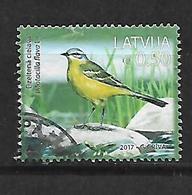 Latvia  2017 Latvian Birds Used - Lettonie
