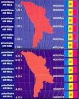 MD 1994-139-50 DEFINITIVE STAMPS CARDS, MOLDAVIA, 2BLATT, MNH - Moldavie