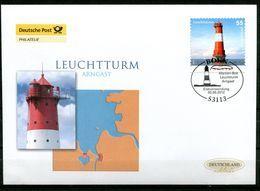 "First Day Cover Germany 2012 Mi.Nr.2935 (Selbstkleber Aus Markenbox)""Leuchttürme-Arngast""1 FDC - Leuchttürme"
