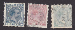 Cuba, Scott #146, 148-149, Used, King Alfonso XIII, Issued 1890 - Cuba (1874-1898)