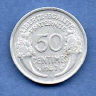 Morlon  -  50 Centimes 1947 B  -  état  SUP - G. 50 Centimes