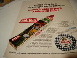 ANCIENNE PUBLICITE PATE DE PORC EN TUBE AMIEUX ET FRERES 1969 - Posters