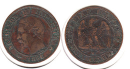 France  2 Centimes  1856 W  2c - B. 2 Centimes