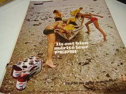 ANCIENNE PUBLICITE PEPSI COLA 1969 - Posters