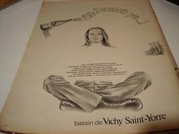ANCIENNE PUBLICITE FOIE CONNAIS PAS  DE VICHY 1969 - Posters