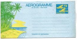 Fidji Postage Paid Aérogramme Aerogram Air Letter Entier Entero Ganzsache Lettre Carta Belege Airmail Cover - Fidji (1970-...)