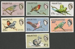 Mauritius Stamps.  1965 Birds & Elizabeth II. MLH - Mauritius (...-1967)