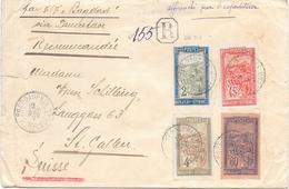 Lettre Madagascar Fort Dauphin 1929 Pour La Suisse - Madagascar (1889-1960)