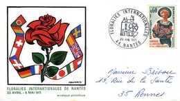 Enveloppe Philatélique Floralies De Nantes (44) 1971 - Végétaux