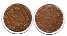 France  2 Centimes  1893 A  2c - B. 2 Centimes