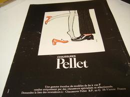 ANCIENNE PUBLICITE CHAUSSURE PELLET   1969 - Habits & Linge D'époque
