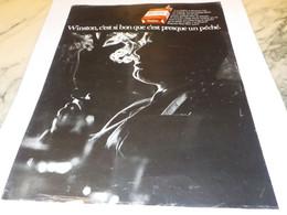 ANCIENNE PUBLICITE CIGARETTE WINSTON 1969 - Raucherutensilien (ausser Tabak)