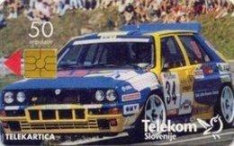 SLOVENIA SCHEDA TELEFONICA Lancia - Gorjanci '94 / Autocommerce - Cars