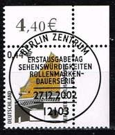 Bund 2002, Michel# 2298 - 2301 O Eckrand Mit ESST Berlin - BRD
