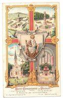 IMAGE PIEUSE RELIGIEUSE HOLY CARD SANTINI HEILIG PRENTJE Ed Breger : St Christophe Notre Patron - Le Jajolet Calvaire - Santini