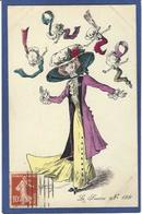 CPA ROBERTY Satirique Caricature Mode Chapeau Type Sager Circulé Année 1910 - Robert