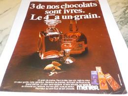 ANCIENNE PUBLICITE  CHOCOLAT TABLETTE MENIER 1969 - Posters