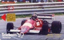 SLOVENIA SCHEDA TELEFONICA  Formula 2 Martini / Walter Wolf Boutique - Cars