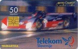 SLOVENIA SCHEDA TELEFONICA  Le Mans - 1995 / Droga Portorož - Cars