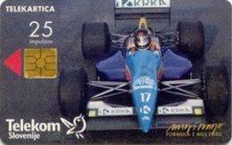 SLOVENIA SCHEDA TELEFONICA    Formula 1 Ags Ford / Miloš Kovačič - Cars