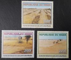 NIGER 2000 YT 1574 L M N - FULL SET - LUTTE CONTRE DESERTIFICATION DESERT STRUGGLE AGAINST -  EXTREMLY RARE - MNH - Niger (1960-...)