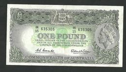 AUSTRALIA 1 POUND 1960 COOMBS-WILSON PREFIX HK/15 PICK#34a VF+ BANKNOTE - Pre-decimal Government Issues 1913-1965