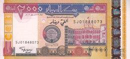 SUDAN 2000 DINARS 2002 P-62a MWR-RR1 REPLACEMENT UNC  */* - Soudan