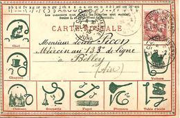 STENOGRAPHIE DUPLOYE Recto Et Verso  Trés Belle Illustration Voyagée En 1903  ENSEIGNEMENT CALLYGRAPHIE PEDAGOGIE - Autres