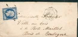 FRANCE NAPOLEON III 20C PARIS ETOILE MUETTE POUR BOIS DE BOULOGNE 27 FEVRIER 1856 TB - 1853-1860 Napoleon III