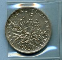 1960 5 FRANCS - J. 5 Franchi