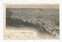Cp, 25 , Vallée De La LOUE , Vue D'ORMANS Et Du Château , Dos Simple ,voyagée 1902 - Francia