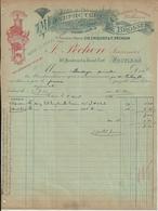 POITIERS CHIQUET PECHON MANUFACTURE DE BROSSES EPONGES A MR BORDAGE QUINCAILLIER A JARNAC ANNEE 1914 - Non Classificati