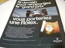 PUBLICITE AFFICHE MONTRE ROLEX  ET GRAND PRIX 1969 - Jewels & Clocks