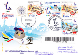 UNIVERSIADE 2009 SERBIA - MONEY LETTER - Atletiek
