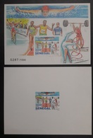 SENEGAL 2016 IMPERF SHEET + PROOF EPREUVE + BLOC ND OLYMPIC GAMES RIO CYCLING SWIMMING WEIGHTLIFTING GYMNASTICS MNH ** - Sénégal (1960-...)