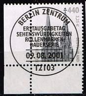 Bund 2001, Michel# 2206 O Eckrand Mit ESST Berlin - BRD