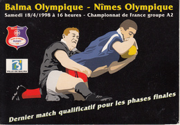 Rugby - BALMA OLYMPIQUE - NÎMES  OLYMPIQUE  En 1998 - Rugby