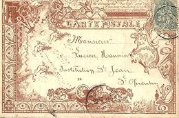 CARTE STENOGRAPHIE DUPLOYE  Recto Et Verso  Trés Belle Illustration  Voyagée En 1905  Enseignement Méthode Sténographie - Autres