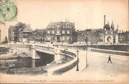 CPA - France - (59) Nord - Dunkerque - L'avenue De La Gare - Le Pont Thiers - La Sous-Préfecture - Dunkerque