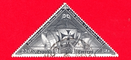 SPAGNA - Usato - 1992 - Esposizione Filatelica Mondiale Granada '92 - Navi Pinta, Niña E Santa Maria - 250 - 1931-Oggi: 2. Rep. - ... Juan Carlos I