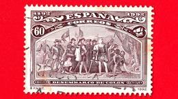 SPAGNA - Usato - 1992 - Scoperta Dell'America - Sbarco Di Colombo Nel Nuovo Mondo - 60 - 1931-Oggi: 2. Rep. - ... Juan Carlos I