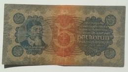 Czechoslovakia 5 Korun  1922, Unperforated - Czechoslovakia