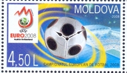MD 2008-615 EU FOOTBALL , MOLDAVIA, 1 X 1v, MNH - Moldavie