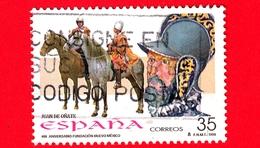 SPAGNA - Usato - 1998 - 400 Anni Della Fondazione Del Nuovo Messico - Juan De Oñate - 35 - 1931-Oggi: 2. Rep. - ... Juan Carlos I