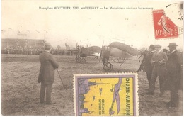 Dépt 21 - DIJON-AVIATION - Monoplan MOUTHIER, NIEL Et CHESNAY - Les Mécaniciens Vérifiant Les Moteurs - (avion,vignette) - Dijon