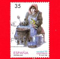 SPAGNA - Usato - 1998 - Natale - Christmas - 'Venditore Di Castagne', Di Rafael Seco - 35 - 1931-Oggi: 2. Rep. - ... Juan Carlos I