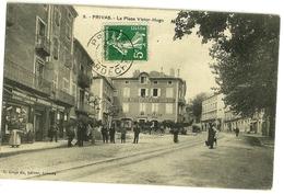 PRIVAS La Place Victor-Hugo. Ed. Artige 9 (Restaurant Combe Avec Calèche) - Privas