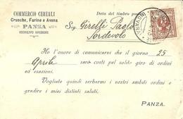 """1294 """" COMMERCIO CEREALI,CRUSCHE,FARINE E AVENA PANZA - OCCHIEPPO INFERIORE """"  CART. POST.  OR.  SPED. - Negozi"""